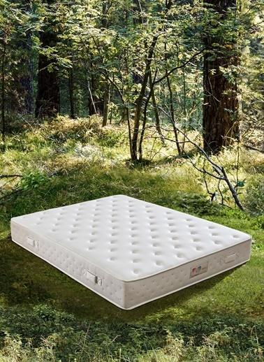 Hibboux Botanic Pocket Yaylı Yatak 100x200 Cm Beyaz